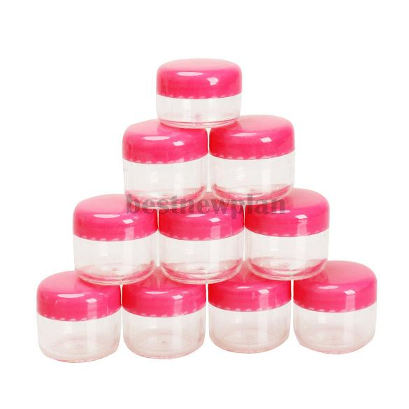 1Portable Cosmetic Empty Jar Pot Eyeshadow Makeup Face Cream Container - bestnewplan store