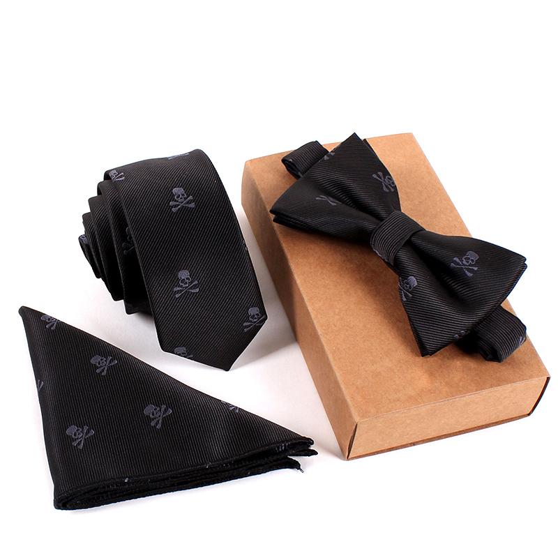 2016 Brand Wedding Necktie & Pocket Square Towel & Bow Tie Print Set Mens Suit Papillon Corbatas Handkerchief Skinny Tie gravata(China (Mainland))