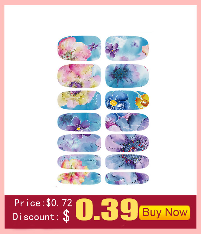 2016 Fashion nail Art Sticker Full Cover Water Transfer Foil nail sticker stencils for nail Tools Stickers nail Art Wholesale