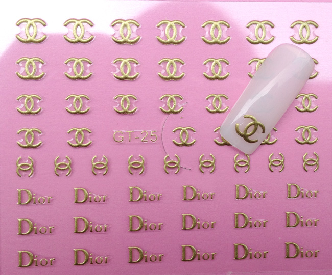 20pcs/lot New arrival 2013 metal nail art nail polish oil applique colored drawing 3d stickers gold in42patients gt25(China (Mainland))