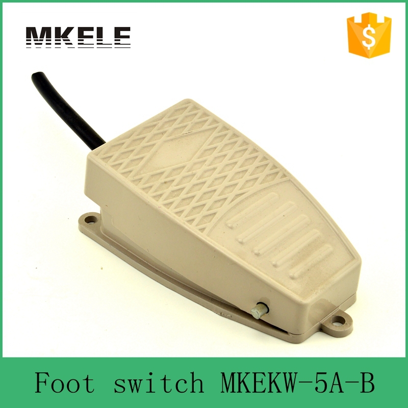 MKEKW-5A-B Safety standard CE certificate SPDT Aluminum industrial high quality 15A 250VAC electric foot switch with push button(China (Mainland))