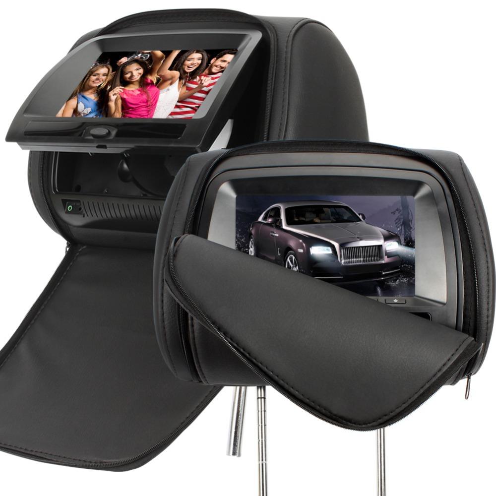 citrouille universal 2 x 7 en cuir de style voiture dvd. Black Bedroom Furniture Sets. Home Design Ideas
