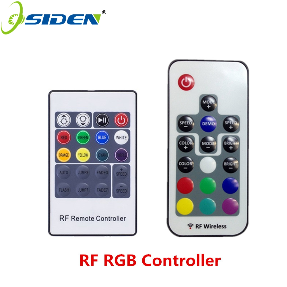 OSIDEN RF Remote controller RF Wireless Led rgb Light Strip Dimmer Controller For RGBSMD5630 SMD5050 SMD3528 17key 20key 5-24v(China (Mainland))