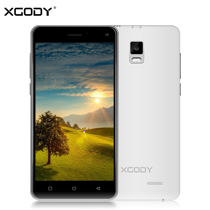 XGODY X12 5.0 Inch Smartphone Android 5.1 Quad Core 2+16GB ROM 5.0+8.0MP 3G Dual Sim Card Unlock 1280*720 Mobile Phone WiFi GPS(China (Mainland))