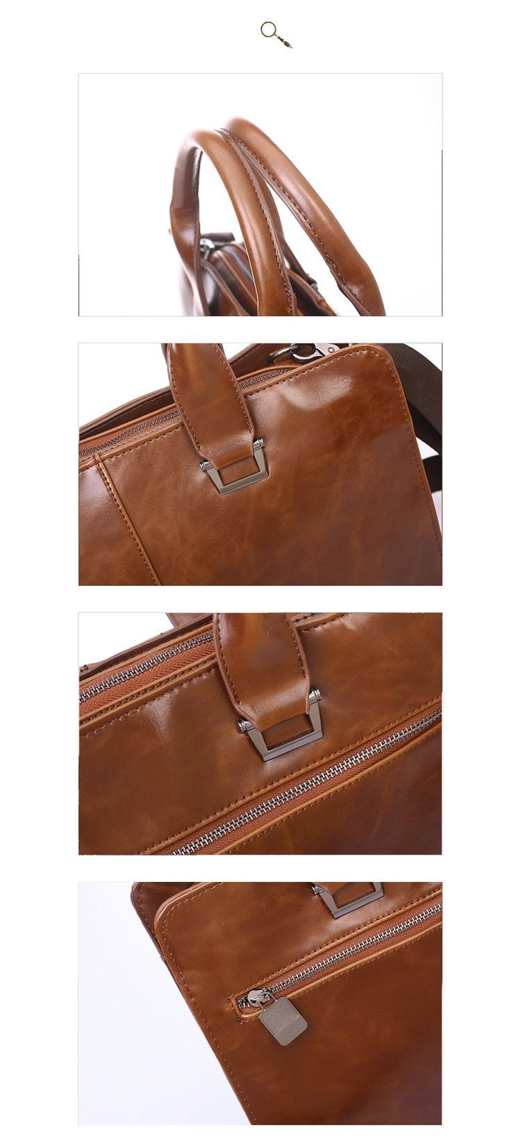 Men Vintage Business Real Genuine Leather Briefcase Travel Causal Messenger Shoulder Portfolio Laptop Bags Lawer Handbag Bolsa (3)