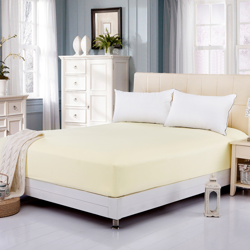 High Quality Brand Bed Sheet Cover Mattress Protector Pads Fitted Bedding Sheet Mattress Cover Beige(China (Mainland))