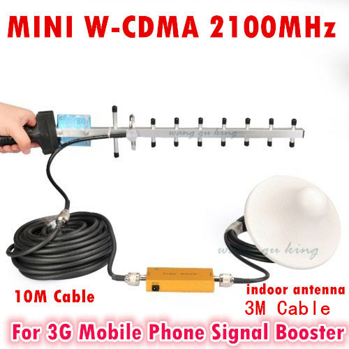 3G Signal Repeater W-CDMA 2100Mhz 3G Repeater Mobile Phone 3G Booster HSPDA Amplifier Yagi Antenna Set(China (Mainland))