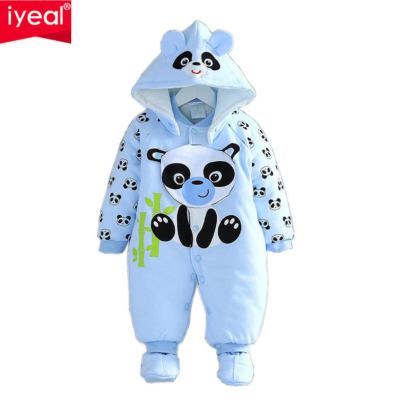 High quality Cartoon Cotton Thick warm Infant Jumpsuit Winter Clothing Baby Romper<br><br>Aliexpress