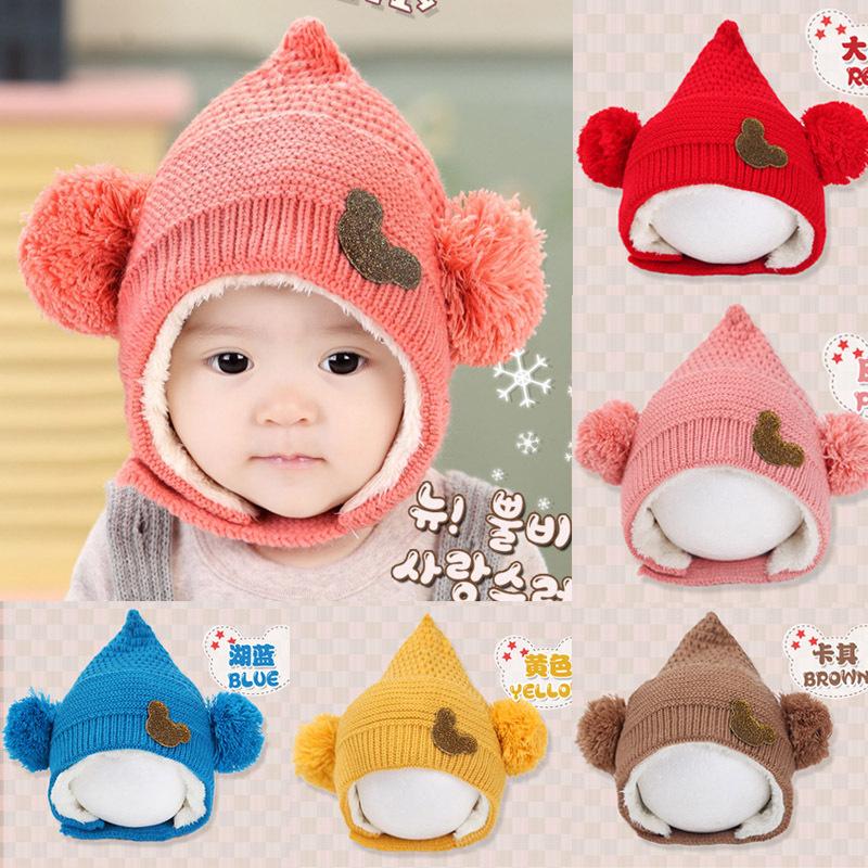 Children's hat cap Ball Elves Newborn Infant new born Minnie Boys Girls accessories Winter Warmer Newborn baby(China (Mainland))