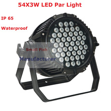 Buy Waterproof Stage Light 54X3W RGBW 4 Colors Led Par Lights 180W High Power Par Cans 6/8 DMX Channel Party Wedding Star Shows for $158.00 in AliExpress store