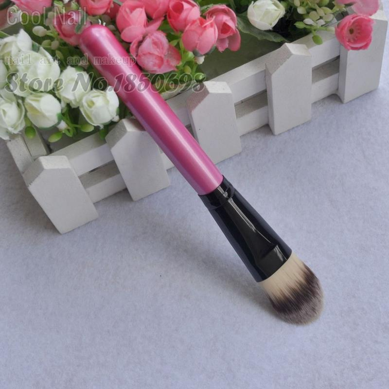 Professional Cosmetic Makeup Liquid Foundation Brush Synthetic Pink Full Size(China (Mainland))