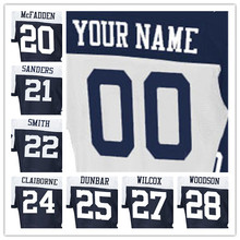 100% Stitched With Customized #20 Darren #21 Deion #22 Emmitt #24 Morris #25 Lance #27 J.J. #28 Darren Elite White Jersey(China (Mainland))
