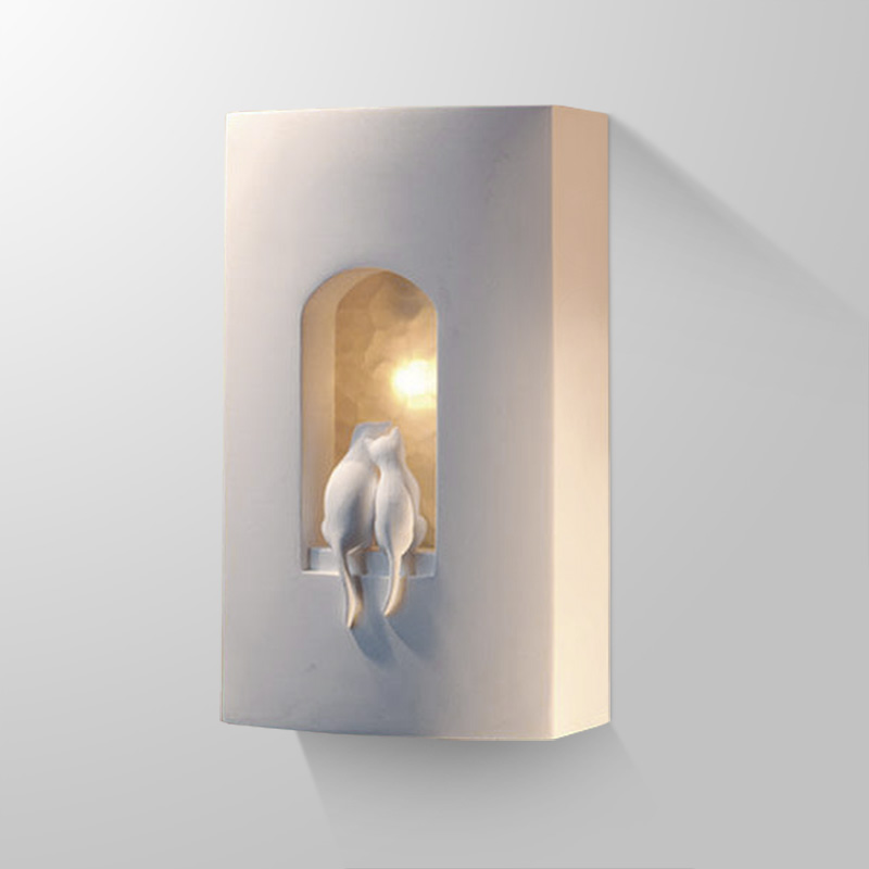 Modern Wall Sconces Bedroom : Modern Wall Lamps Two Loving Kitties Gypsum Lovely Wall Lights Bedroom Wall Sconces kitchen ...