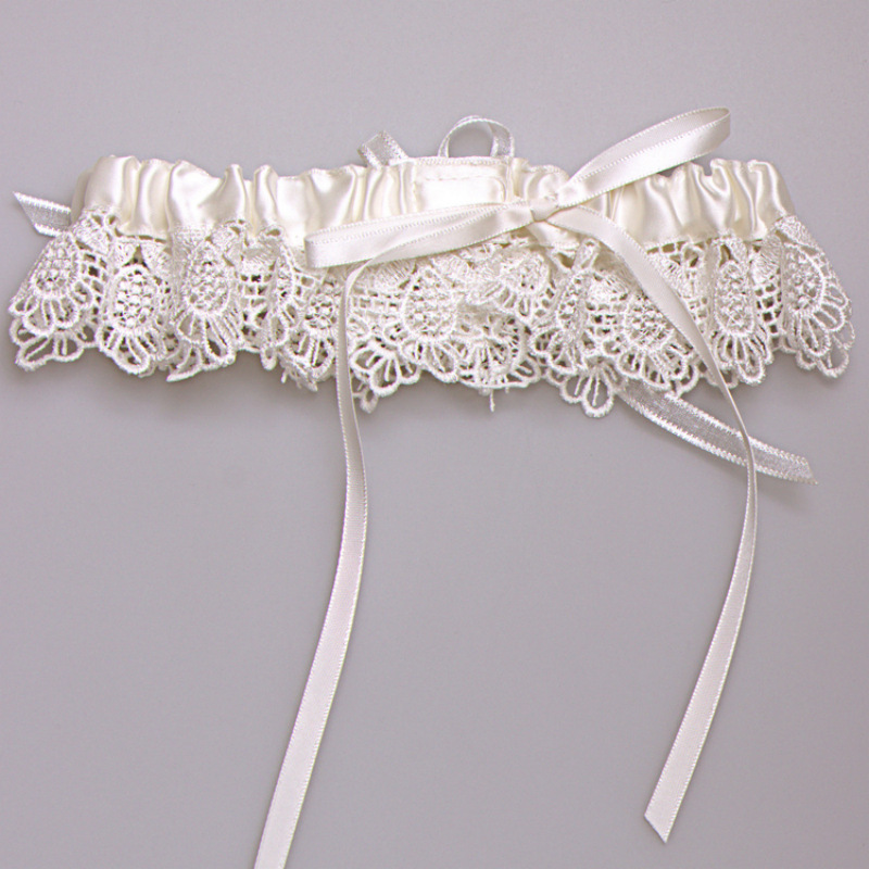Women Sexy Garters Set Wedding Party Bridal Lace Floral Garter Belt Leg Ring In Garters From