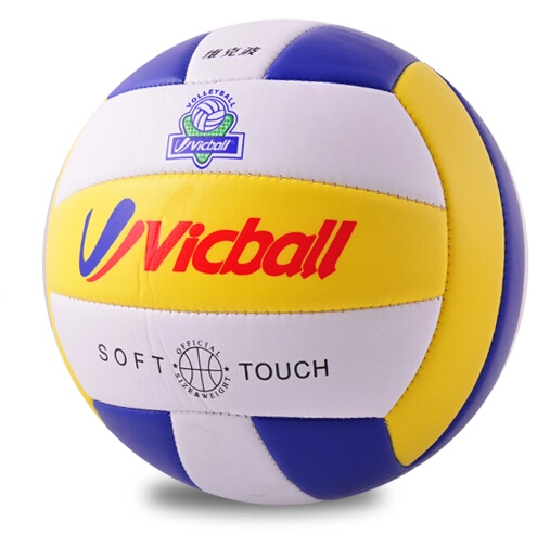 1 piece Vicball number 5 standard Size PU soft volleyball for Beginner safe beach play game(China (Mainland))