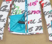 Мужская водонепроницаемый письмо каракули сноуборд куртка дамы ветрозащитный лыж куртка девочки Куртка горнолыжная одежда для Белоснежка