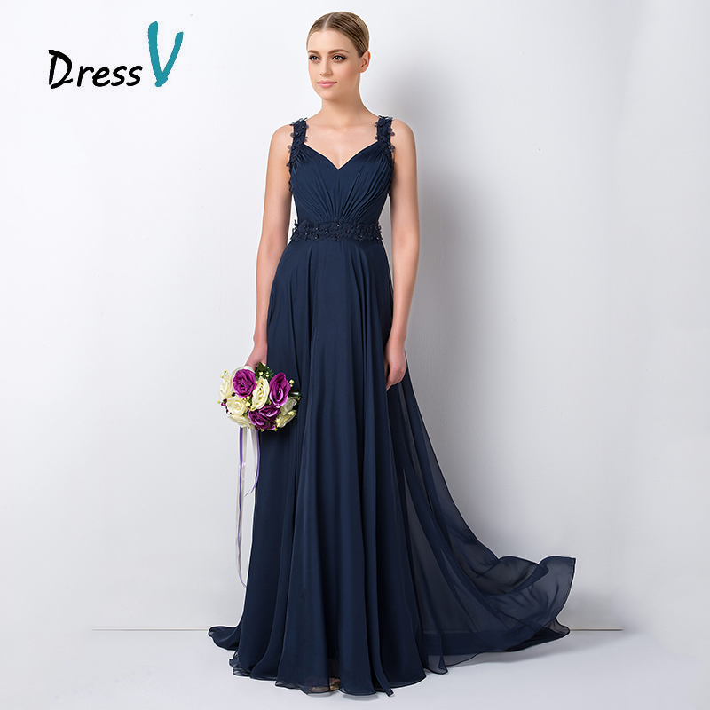 Elegant-font-b-Navy-b-font-Blue-Chiffon-Long-font-b-Bridesmaid-b-font-Dresses-2015.jpg
