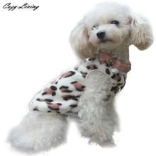 Buy 1 PC Pet Clothes Winter XS-XL Fashion Pet Cat Dog Villus Clothes Winter Leopard Pet Vest Clothing Fleece Puppy Pet Dogs D19 for $2.95 in AliExpress store