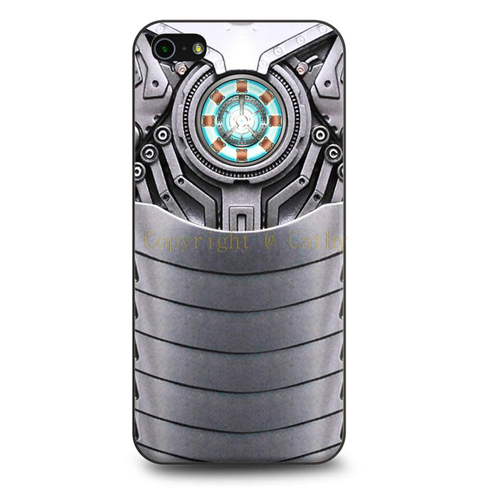 Iron Man Body Armor Case For iPhone 4 4s 5 5s 5c 6 6 Plus Black Hard Cover(China (Mainland))