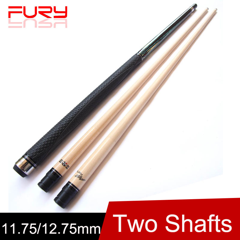 (Two Shafts)Billiard Pool Cue 12.75mm/11.75mm Tips 1/2 Billiards Cue Stick One 10 Pieces Wood Technical Shaft(China (Mainland))