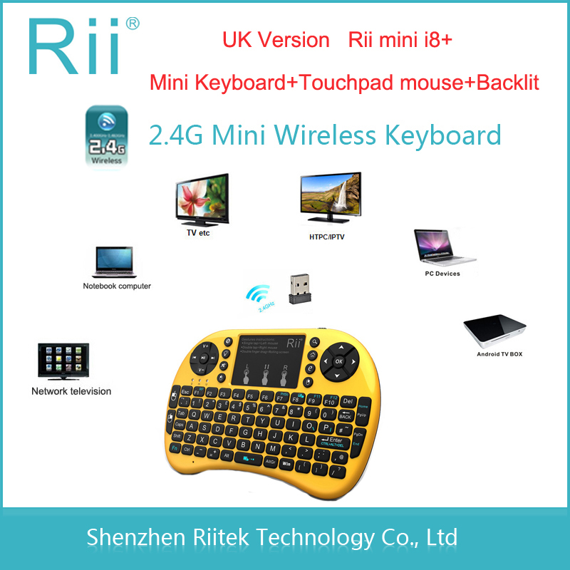 2015 New hot Original Rii mini i8+ Wireless Keyboard 2.4G RF Handheld gaming Keybord Touchpad mouse Backlit Combo PC Teclado(China (Mainland))
