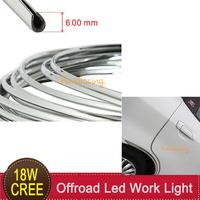Car Flexible Styling Strip 6mm 6M Auto Exterior Interior Door Grille U Style Chrome Decoration Adhesive Impact Tape Molding Trim