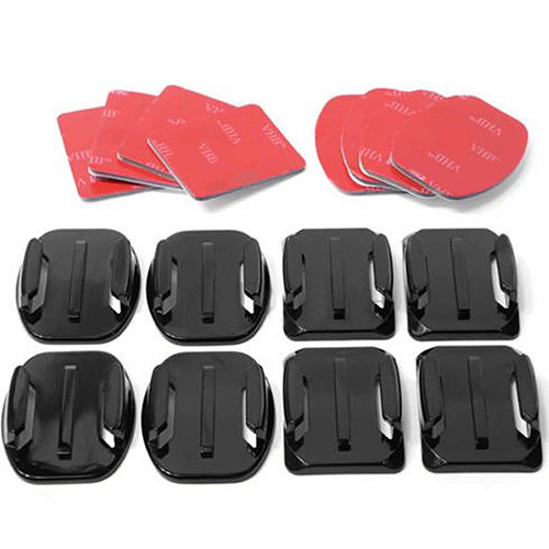 image for 8 Pcs Flat Curved Adhesive Mount Helmet Accessories For Gopro Hero 1 2