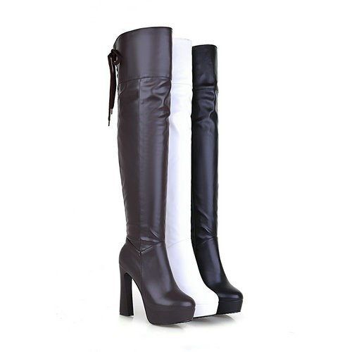 VINLLE 2015 Fashion Pointed Toe Over The Knee High Boots For Women