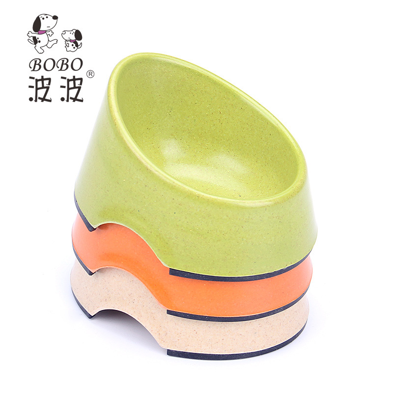 2015 Hot Sale Pet Cat Small Dog Feeder Bowls Bamboo Oblique Mouth Fiber Products For Dogs Mascotas Comedero Perro Free Shipping(China (Mainland))