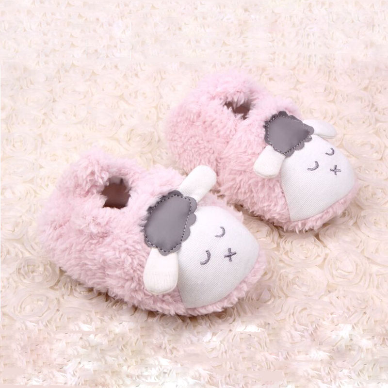 baby shoes boys girls shoes cute cartoon sheep baby girl shoes infant warm coral velvet baby boy shoes toddler(China (Mainland))