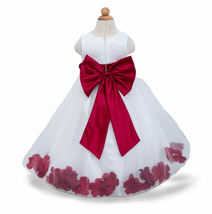 3-12yrs Girls Dress 3D Flower party Princess Dresses Big Bow Quarter Wedding Kids Dress for Girl Brand New Style baby clothes<br><br>Aliexpress