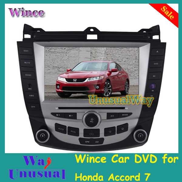 Free Shipping 2015 Top Professional Wince Car Entertainment System Multimedia DVD Player For Honda Accord 7 With GPS BT Free Map(China (Mainland))
