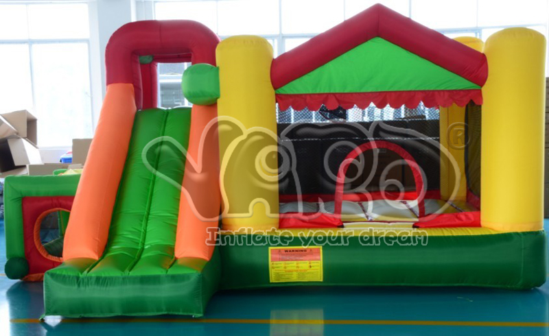 HOT SALE Mini bouncy castle inflatable bouncer jumping castle with slide for residential use with blower(China (Mainland))