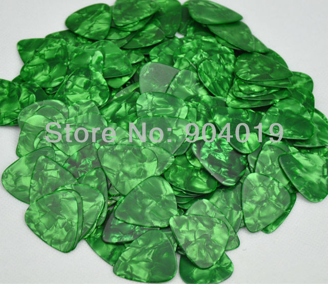 Lots of 50 pcs New Heavy 0.96mm Blank Guitar Picks Celluloid Pearl Green