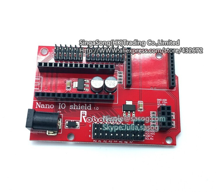 Free shipping ! Nano 328P IO wireless sensor expansion board for XBEE and NRF24L01 Socket for arduino(China (Mainland))