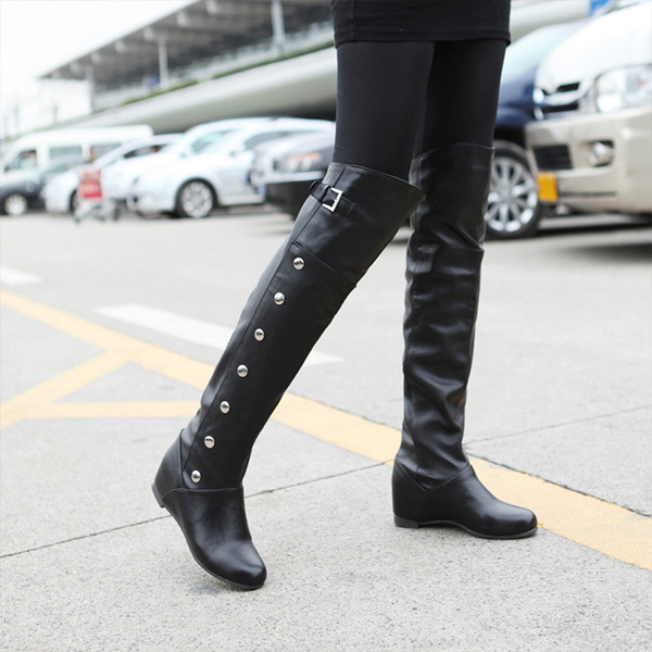 2014 autumn winter woman Knee Boots long boots fashion flat with high cylinder boots Knight Martin boots bag mail XY009<br><br>Aliexpress