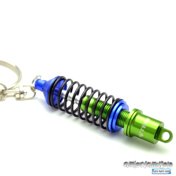 Metal Turbo Tuning TEIN Damper Shock Adjustable Coilover Keyring for Accod Escape MK6 Golf7 Civic Car Key Chain Key Ring175bl
