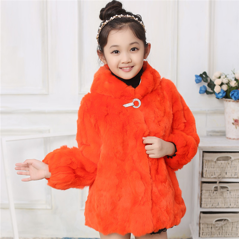 HOT SALE 2016 Fashion Children Rabbit Fur Coat Autumn and Winter Warm Thick Short Outer Wear Jackets for Baby Kids Girls Lovely(China (Mainland))