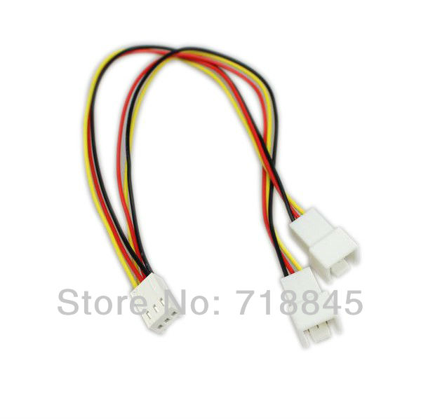 1pcs12V 3 Pin PC Fan Power Y Cable Splitter Extension Cable Wire(China (Mainland))