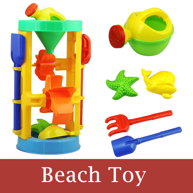 Children Kids Toys Environment&Safety Bright Colorful Beach Toys Windmill Sand Brinquedo Summer Seaside Baby Water Bath Toys(China (Mainland))