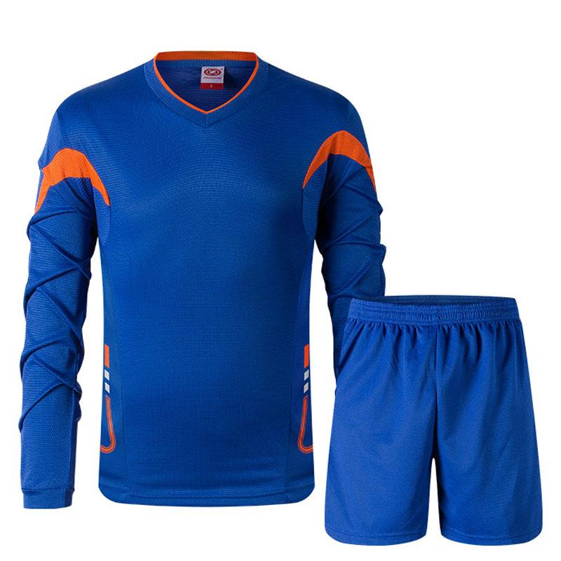 2015/16 youth men soccer goalkeeper jersey set sponge football long short sleeve goal keeper uniforms goalie sport training suit(China (Mainland))