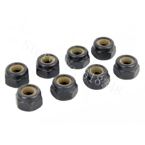 8pcs Universal 02055 Nylon Lock Nut M4 RC Car Replacement Spare Parts for HSP Redcat Himoto HPI Traxxas AXIAL(China (Mainland))