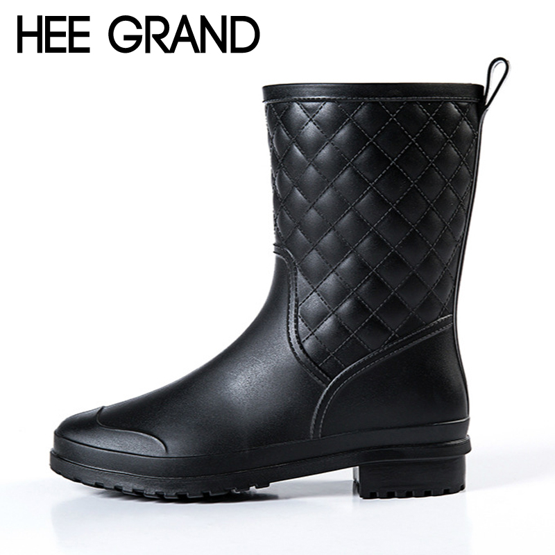 Perfect Buy Fashion PVC Women Rain Boots Knee High Womens Boots Shoes Woman