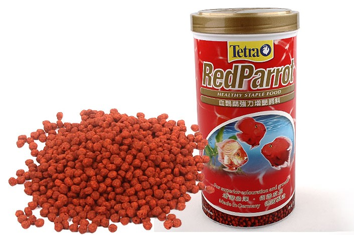 Tetra Red Parrot graules Giant Blood Parrot Gold Blood Parrot fish food float on water canister feeder aquarium(China (Mainland))