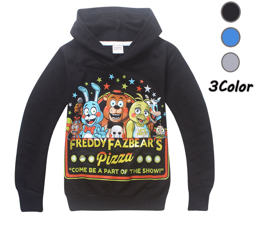 New 2015 Boy Hoodies Five Nights at Freddy's FNaF Children's Sweatshirts For Boys Cartoon Kids Hoodies Boys Girls Tops Costume(China (Mainland))