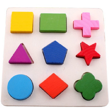 Baby Wooden block toy kids educational early learning Geometry Block Educational Toy Montessori Early Toys wood toys(China (Mainland))