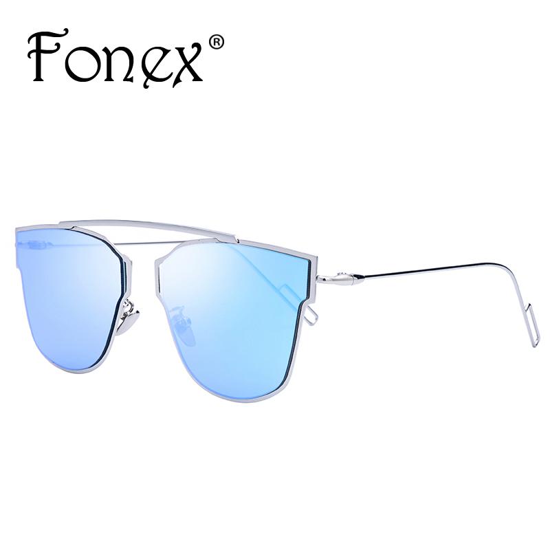 2016 New Brand Design Cat Eye Sunglasses Fashion Rimless Women Cateye Metal Sunglasses Luxury quality Oculos de sol UV400 Fonex(China (Mainland))