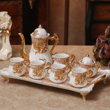 drinkware sets Coffee Tea Set European aristocratic luxury ceramic tea sets porcelain Coffee uit Home Furnishing ornaments