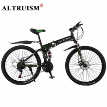 Buy Altruism X9 Bicycle Mountain Bike Steel Bisiklet 24 Speed 26 Inch Velo Bicicleta Mountain Floding bicycle Double Disco Brake for $187.95 in AliExpress store