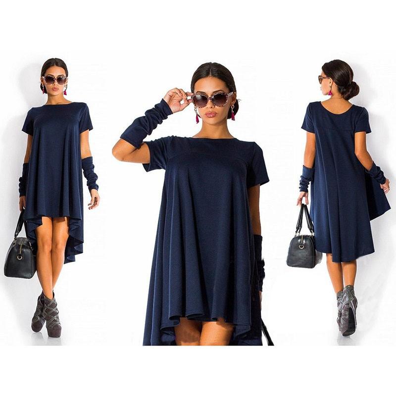 Короткое платье свободного покроя